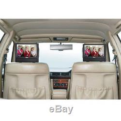 Car Seat Dual Screen Mobile DVD Player Travel Portable RCA 9 Built-in Speakers