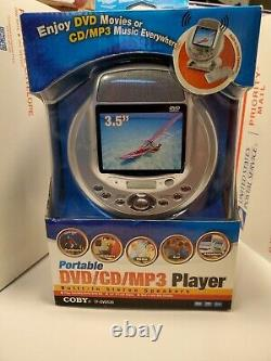 Coby Portable DVD Player with 3.5 Inch Screen Model TF-DVD530. NEW. RARE
