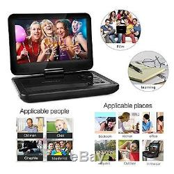 DBPOWER 10.5 Portable DVD Player with Swivel Screen, 3 Hours Rechargeable New