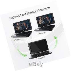 DBPOWER 14 Portable DVD Player with Rechargeable Battery, Swivel Screen, Sup