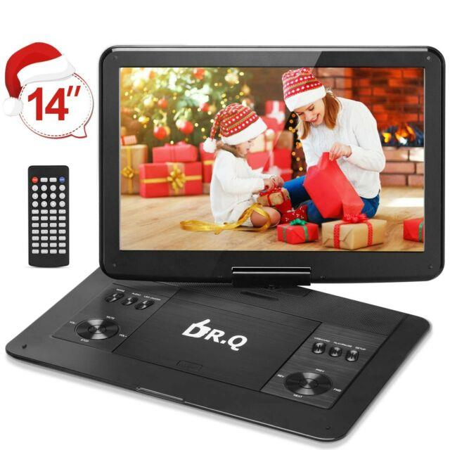 Dr. Q 14.1 Inch Portable Dvd Player With 6000mah Rechargeable Battery, 270 Degree