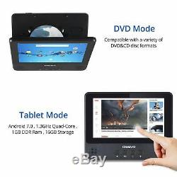 DigiLand 9.0 Touchscreen Portable DVD Player Android WiFi Tablet Quad-Core 16GB