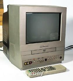 EMERSON EWC09D5 9 CRT TV DVD Player Combo Retro Gaming Portable TV With Remote