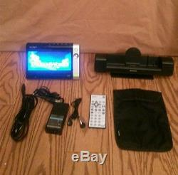 EUC Sony Walkman D-VE7000S Portable DVD/CD Player with 7 wide screen2006