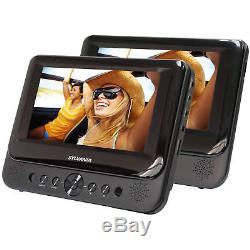 Headrest TV Car DVD Player For Car Seat Portable CD Dual Backseat Vehicle Movie
