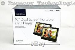 Insignia 10 Dual Screen Portable DVD Players Ns-dd10pdvd19 Factory Sealed