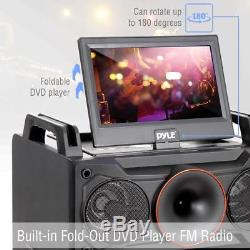Karaoke Vibe Portable Video PA Speaker System with Built-in DVD Player, 10 Screen