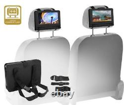Koramzi Portable 9 Dual Screen Dual DVD Player with Rechargeable Battery / USB
