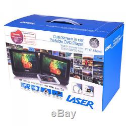 LASER Portable CD/DVD Player Dual/twin 7 screen In Car/home/all region free 0