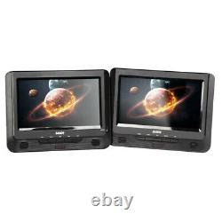 Laser 9 inch Portable DVD Player Dual Screen with USB SD 12v 240v Region Free SD