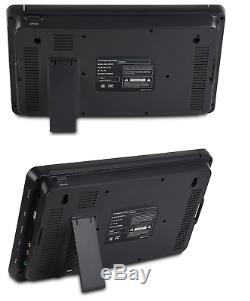 Milanix 10 Dual screen DUAL portable DVD player USB SD rechargeable battery