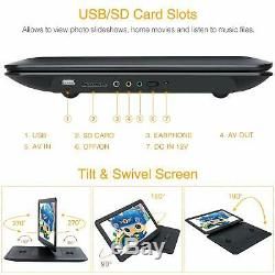 NAVISKAUTO 1366x768 Portable DVD Player with 15.6 Large Screen Support 7 Hou