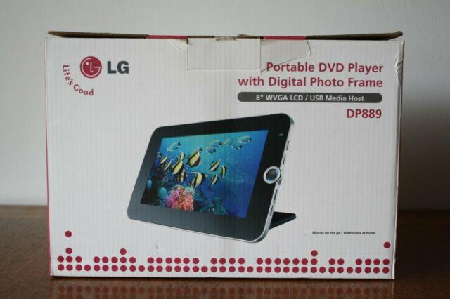 New Lg Portable Dvd Player With Digital Photo Frame Dp889, 8'' Lcd