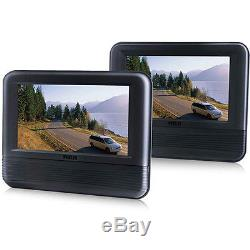 NEW RCA 7 Portable Mobile Car Dual Screen DVD Player LCD Screen Remote Control