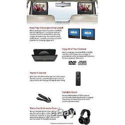 NEW RCA 9 Dual Screen Mobile Portable Car DVD Player AV outputs for Video Games