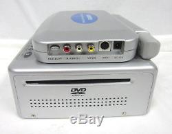 New Audiovox VBP4000 Portable 5.6 LCD Color Monitor & DVD Player Silver