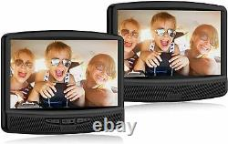 New RCA Dual 10 TFT LCD Portable DVD CD Player AC/DC Car Cord Built-in Speakers
