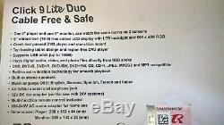 Nextbase Click 9 Lite Duo Twin Screen Portable DVD Player With Stanchion Mounts
