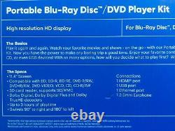 Onn portable Blu ray/ DVD player with 11.4 inch screen