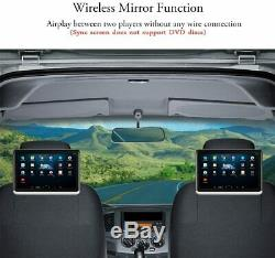 PAIR DDAuto 10.1 Android Headrest DVD Player with Battery for Portable Use A1D