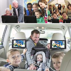 PUMPKIN 10.1 Dual Screen Portable DVD Player Car Headrest Monitors with 5 Hours