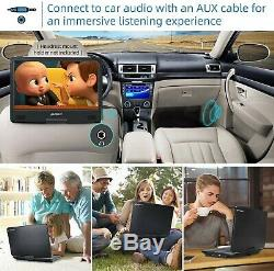 PUMPKIN 14 Inch Portable Blu Ray DVD Player with HDMI In/Output, Built-in