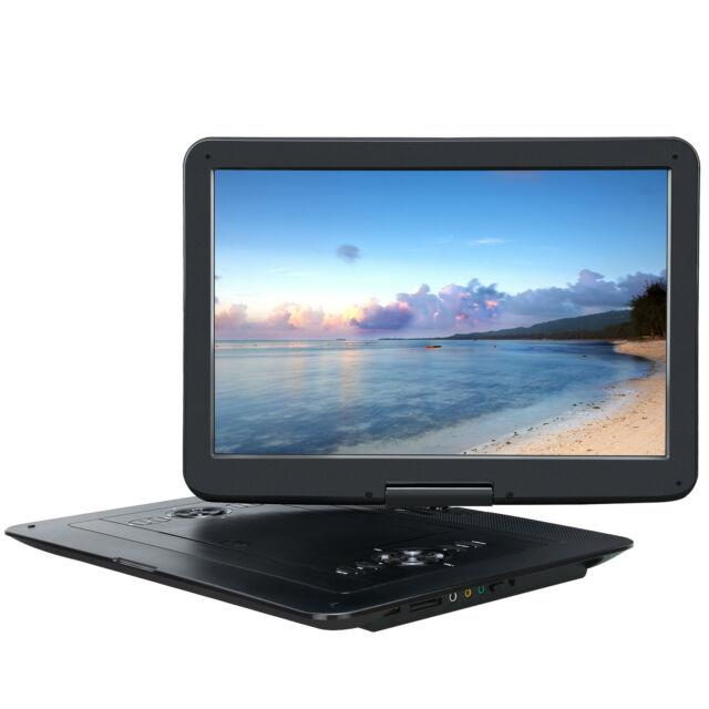 Pumpkin 15.6 Large Swivel Screen Portable Dvd Player 7hour Rechargeable Battery