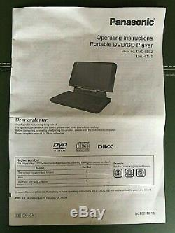 Panasonic DVD-LS92 Portable DVD Player (9) MINT CONDITION, HARDLY USED
