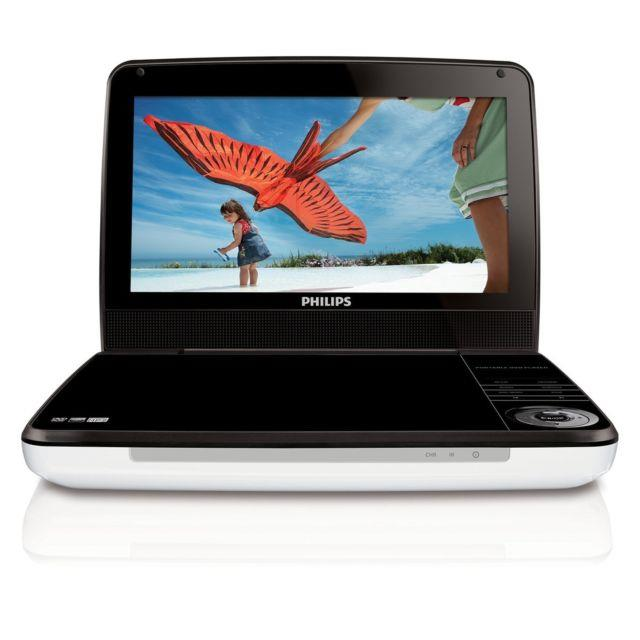 Philips Pd9000/37 9-inch Lcd Portable Dvd Player With 5 Hour Battery, White/b