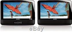Philips PD9012/37 9-Inch LCD Dual Screen Portable DVD Player, Black New