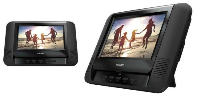 Philips Twin Screen 7 Portable Dvd Player Top Brand Dvd Ideal For Car Caravan