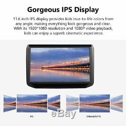 Portable 2x 11.619201080 IPS Car Headrest Monitor DVD Player HDMI with Speaker