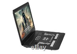 Portable DVD Player 1366x1280 Hi-Res, HDMI, Remote, Car Charger, Copy, 17 Inch