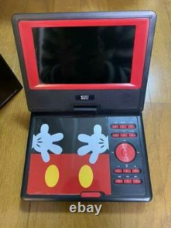 Portable DVD Player 7inch Disney Mickey Mouse used from japan rare limited