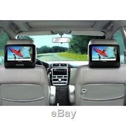 Portable DVD Player Playback Audio Video Dual Screens 9 TFT For Car Travel