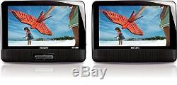 Portable DVD Player Playback Audio Video Dual Screens 9 TFT For Car Travel New