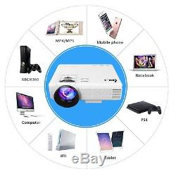 Portable LED Projector HD 1500 Lumens 170 HDMI Home Theater Video DVD Player