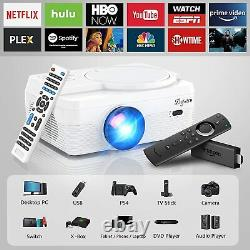 Portable Video Projector w Built in DVD Player 7000LM, 1080P Support Bluetooth