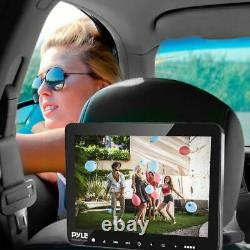 Pyle PLHRDVD904 Portable Car CD DVD TV Player with Wireless Headphones & Remote