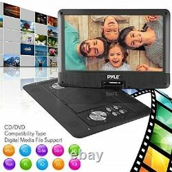 Pyle Portable DVD CD Player 14 Inch High Resolution TFT Swivel Angle Foldable