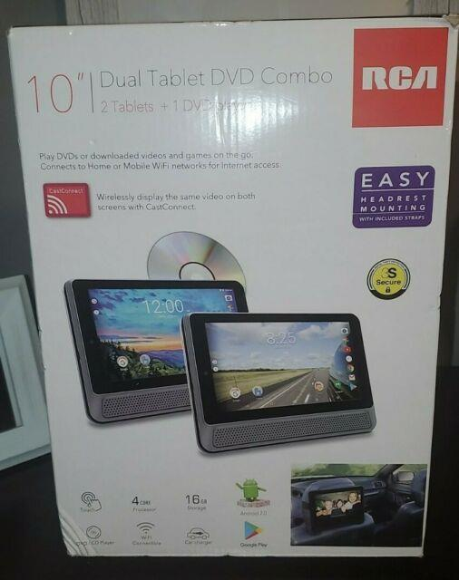 Rca 10 Dual Tablet/portable Dvd Player Combo With Android 7