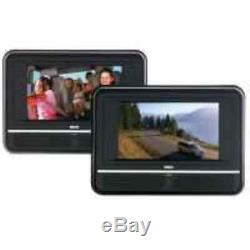 RCA DRC6272 7-Inch Twin Mobile DVD Players play two different DVDs