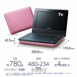 SONY 7V type portable DVD player pink DVP-FX780 PC from japan