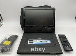 SONY BDP-SX1000 Portable Blu-ray Disc DVD player WithRemote And Chargers