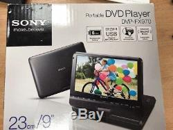 SONY DVP-FX970 Portable 9 DVD Player with Remote, Case, Car Charger and Mains