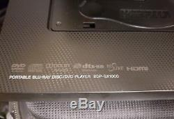 SONY Portable Blu-ray Disc/DVD player (10screen) With remote, cords, and bag
