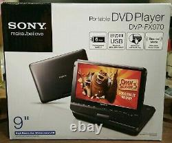 SONY Portable DVD Player 9 DVP-FX970 with Remote AC Adapter AV Cable Car Charger