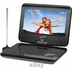 SUPERSONIC 9 Portable DVD/CD Player Digital TV USB SD Rechargeable AC/DC NEW