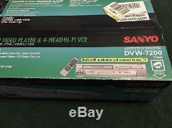 Sanyo DVW-7200 DVD VCR Combo Player Video Cassette VHS Recorder Like New Tested
