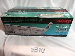Sanyo DVW-7200 DVD VHS Combo Player VCR Recorder BRAND NEW IN BOX